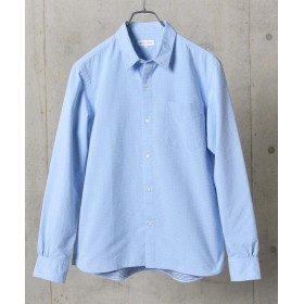 シップス SHIPS JET BLUE: COOLMAX ドビードット レギュラーカラーシャツ メンズ ライトブルー MEDIUM 【SHIPS】