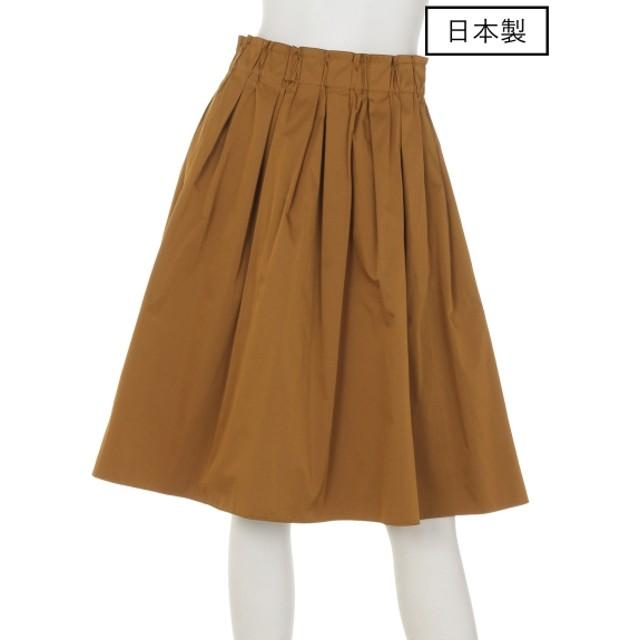 72%OFF dolly-sean (ドリーシーン) 【日本製】リバーシブルタックギャザースカート オレンジ