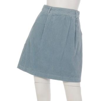 82%OFF Ray Cassin (レイカズン) 太コール台形スカート サックス
