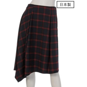 86%OFF chouette (シュエット) 【日本製】チェックアシンメスカート ネイビー