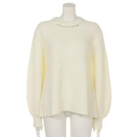 70%OFF INTERPLANET (インタープラネット) 片畦衿装飾ボリューム袖PO オフホワイト