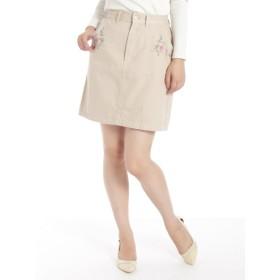 69%OFF Ray Cassin (レイカズン) 刺繍台形スカート ベージュ