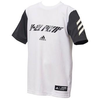 アディダス(adidas) ジュニア 野球 半袖Tシャツ 5T PLAYER T Jr ホワイト FTI96 DU9574 少年野球 キッズ トレーニングウェア トップス ベースボール