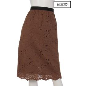 71%OFF chouette (シュエット) 【日本製】リバーレーススカラカットスカート ブラウン