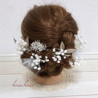 成人式 ウエディング プリザーブドフラワー 髪飾り