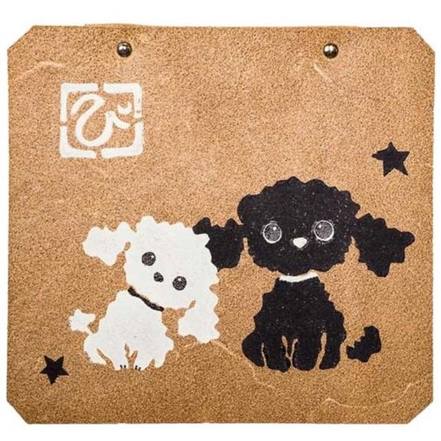 プードル トイレットペーパーホルダーカバー 犬 雑貨 トイレ用品 革 プレゼント ペット オーナーグッズ