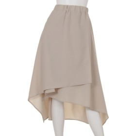 50%OFF Ray Cassin (レイカズン) イレヘムラップスカート サンドベージュ