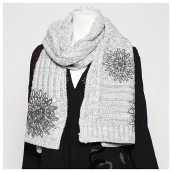 デシグアル Desigual アクセサリー ニットロングスカーフ (Grey/Black)