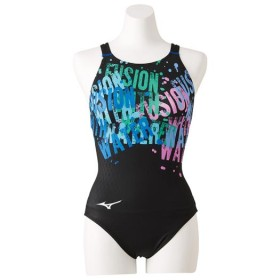 MIZUNO SHOP [ミズノ公式オンラインショップ] 競泳用ローカット(オープン)[レディース] 92 ブラックxブルー N2MA9244