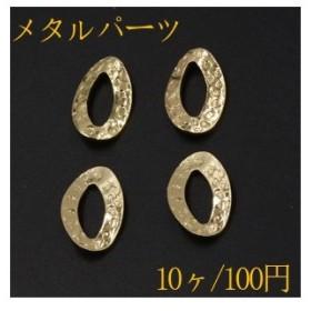 チャームパーツ  変形オーバルフレーム 16×24mm ゴールド【10ヶ】