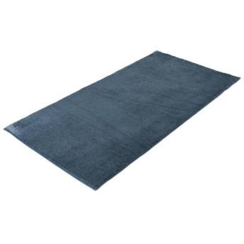 シャギーフロアラグ ブルー 90x185cm ホームコーディ 90×185
