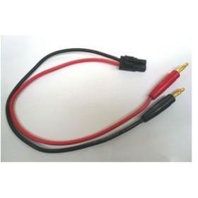 充電ジャック&タミヤオス黒 コネクターコード(200mm)[SQUARE]《在庫切れ》