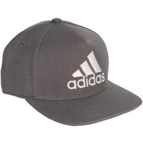 アディダス(adidas) メンズ レディース ロゴ フラットキャップ グレーシックス/グレーシックス/ローホワイト EBZ97 DT8579 帽子 マルチスポーツ 日よけ