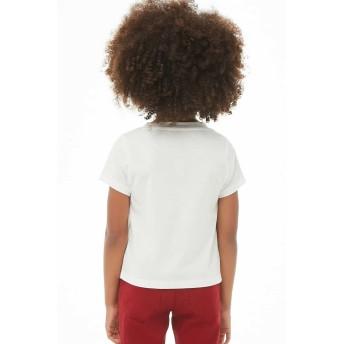 Tシャツ - FOREVER 21【KIDS】 【レインボーDreamerTシャツ】 子供服 女の子 tシャツ カットソー 白 ホワイト 半袖