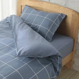 HOME COORDY カバー3点セット ベッド用 シングル ウィンドウペンチェックブルー ホームコーディ ウィンドウペンチェックBL シングルサイズ 布団カバーセット