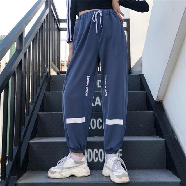 65f6561748115 韓国 原宿系 ファッション レディース ボトムス サルエルパンツ ロングパンツ カラフル ダンス 衣装 派手 カワ な
