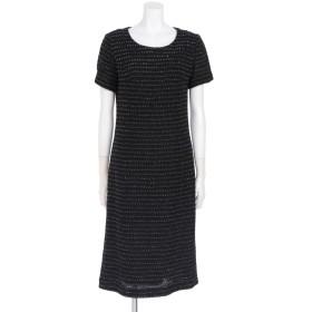 60%OFF VALKURE (ヴァルクーレ) 抄織糸ファンシーツイードワンピース 黒