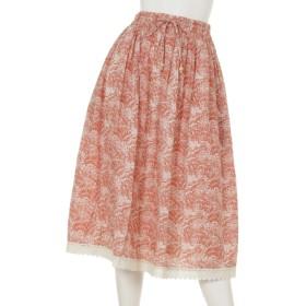 77%OFF FANAKA (ファナカ) ギャザースカート サーモンピンク
