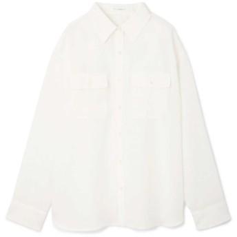 70%OFF PINKY&DIANNE (ピンキーアンドダイアン) ナチュラルタッチソフトシャツ ホワイト(030)