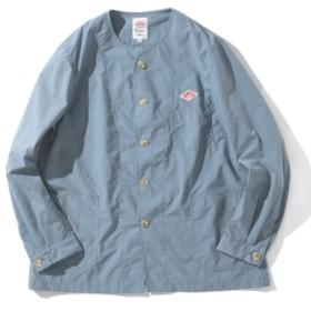 【OCEANS5月号掲載】DANTON × B:MING by BEAMS / 別注 ノーカラー カバーオール メンズ カバーオール SAX BLUE 40