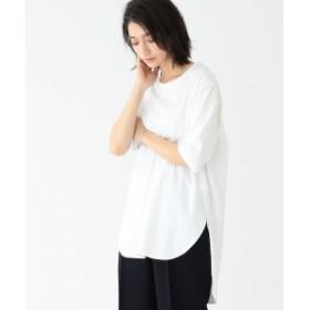 【一部予約】ATON / スビン ラウンドヘム Tシャツ レディース Tシャツ WHITE 02