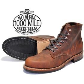 ウルヴァリン 1000マイルブーツ WOLVERINE 1000MILE BOOTS EVANS BROWN LEATHER MADE IN USA w40049 ブラウン ホーウィン クロムエクセル レザー メンズ ブーツ