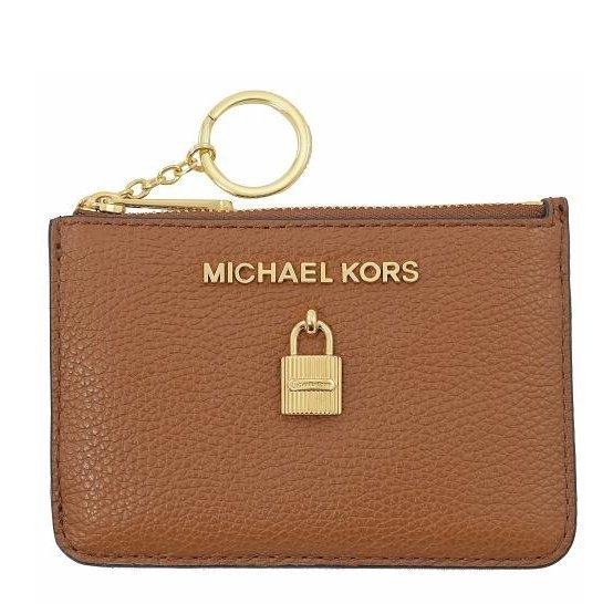 MICHAEL KORS MK荔枝紋皮革證件/鑰匙包(駝)