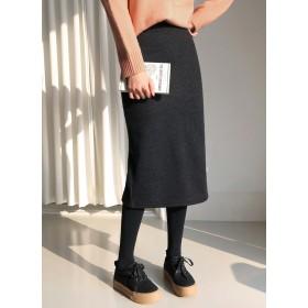 裏起毛イージーHラインスカート・全5色・b52047