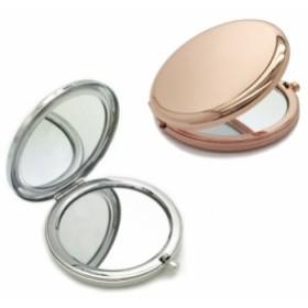 ポケットミラー 二面鏡 2倍拡大鏡 ダブルミラー ポータブルミラー メイクアップミラー 折り畳み式ポケットミラー PKMIR2IN1