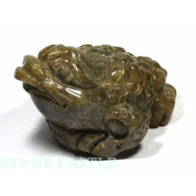 ☆置物一点物☆【天然石 彫刻置物】銭蛙(三本足蛙) シルバールチルクォーツ No.10 パワーストーン