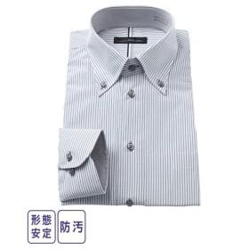 ワイシャツ ビジネス メンズ 汚れが落ちやすい形態安定 ボタンダウン  M/L/LL ニッセン