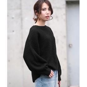 アンドジェイ ヘムラインサーマルニット レディース ブラック M 【ANDJ】