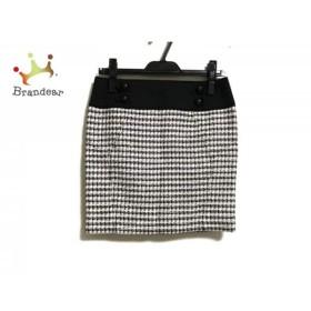ピンキー&ダイアン ミニスカート サイズ36 S レディース 美品 黒×白×マルチ ツイード           スペシャル特価 20200113