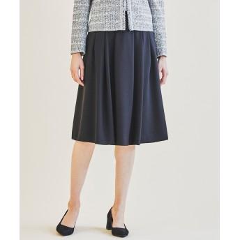 【オンワード】 J.PRESS LADIES S(ジェイ・プレス レディス 小さいサイズ) 【洗えてシワになりにくい】ガルーダツイル スカート ブラック P3 レディース 【送料無料】