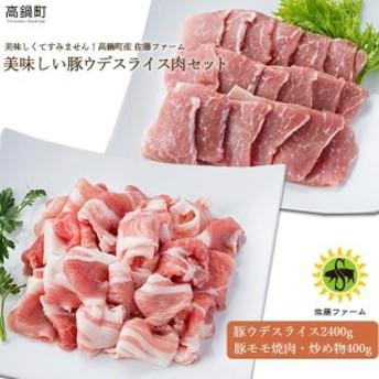 ns <高鍋町産 佐藤ファーム 美味しい豚ウデスライス肉セット合計2.8kg>1か月以内に順次出荷