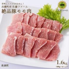 ns <高鍋町産 佐藤ファーム 絶品豚モモ肉1.6kg>1か月以内に順次出荷