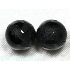 天然石 ビーズ【彫刻ビーズ】オニキス 8mm (素彫り) 鳳凰 パワーストーン