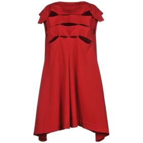 《セール開催中》NUOVO BORGO レディース ミニワンピース&ドレス レッド 44 コットン 95% / ポリウレタン 5%