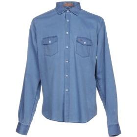《期間限定 セール開催中》WEBB & SCOTT CO. メンズ デニムシャツ ブルー XL コットン 100%