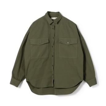 ESTNATION / コットンツイルシャツ カーキ/38(エストネーション)◆レディース シャツ/ブラウス