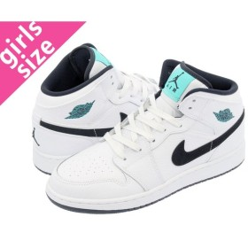 NIKE AIR JORDAN 1 MID GS ナイキ エア ジョーダン 1 ミッド GS WHITE/BLACK/HYPER JADE