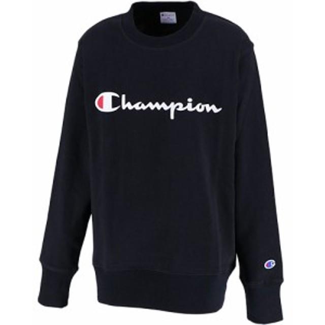 bc6da36e6c66cc チャンピオン(Champion) キッズ トップス クルーネック ブラック CS7992 08 【ジュニア 男の子 女の子 スウェット