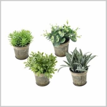 造花 インテリア 観葉植物 イミテーション 植物 DECOR IMITATION BLIKI Sサイズ 4種アソート