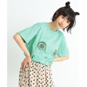 【一部予約】【しょこたん着用】<UNISEX>mmts / ピンクフェイスTシャツ レディース Tシャツ ミントグリーン S