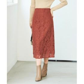 ユアーズ ur's レースタイトスカート (ブラウン)
