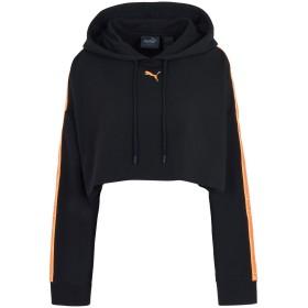 《期間限定セール開催中!》FENTY PUMA by RIHANNA レディース スウェットシャツ ブラック 8 コットン 78% / ポリエステル 17% / ポリウレタン 5% HOODED LS CROPPED SWEATSHIRT