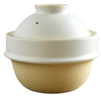 東急ハンズ つかもと kamacco 土鍋(土釜)ご飯 益子焼 1合炊き用 直径14cm 白釉