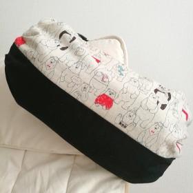 送料無料 シンプル可愛いリバーシブル抱っこ紐カバーエルゴカバークマドットブラックbaby便利