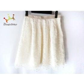 アプワイザーリッシェ スカート サイズ2 M レディース アイボリー×ベージュ 刺繍/花柄           スペシャル特価 20191029