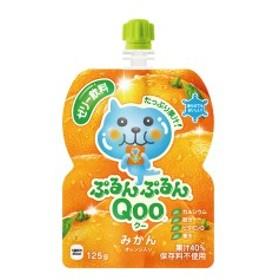 コカ・コーラ ミニッツメイドぷるんぷるんQoo みかん 125gパウチ 6本入×1ケース